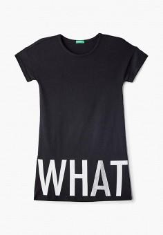 Платье, United Colors of Benetton, цвет  черный. Артикул  UN012EGDXAE3.  United 2b9b39f5f7f