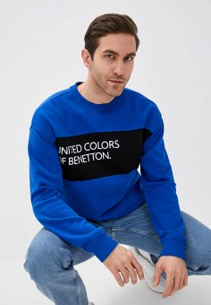 Свитшот, United Colors of Benetton, цвет: синий. Артикул: UN012EMMHEO4. United Colors of Benetton