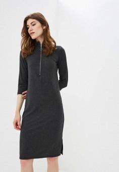 Платье, United Colors of Benetton, цвет: серый. Артикул: UN012EWBYKD7. Одежда / Платья и сарафаны