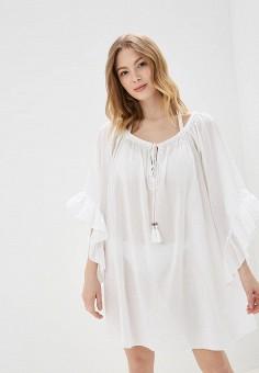 03af14cf5b407bb Платье пляжное, United Colors of Benetton, цвет: белый. Артикул:  UN012EWDXIO5.