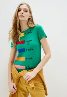 Джемпер, United Colors of Benetton, цвет: мультиколор. Артикул: UN012EWHXUR4. Одежда