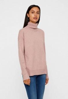 Водолазка, Vero Moda, цвет  розовый. Артикул  VE389EWBWWR6. Одежда    Джемперы 3a84743e618