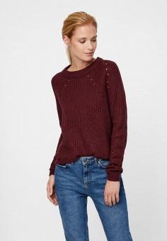 Джемпер, Vero Moda, цвет  бордовый. Артикул  VE389EWBXTX8. Одежда   Джемперы 3ca62e2c79d