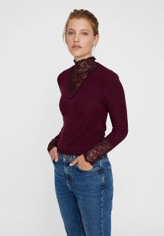 Водолазка, Vero Moda, цвет  бордовый. Артикул  VE389EWBXUO5. Одежда    Джемперы 8a071a3fd1f