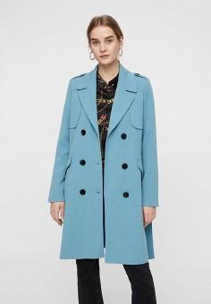 58209b5aca2b Пальто, Vero Moda, цвет  голубой. Артикул  VE389EWDLWF1. Одежда   Верхняя