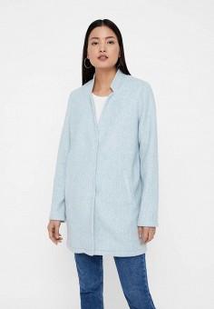 Пальто, Vero Moda, цвет  голубой. Артикул  VE389EWDLWY5. Одежда   Верхняя a867eb03924