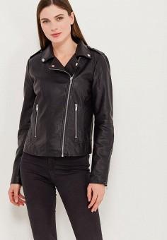 Куртка кожаная, Vila, цвет  черный. Артикул  VI004EWZWL92. Одежда   Верхняя 6c0de4d283a
