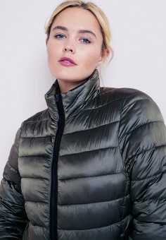 ac8dd2f2ad62 Куртка утепленная, Violeta by Mango, цвет  хаки. Артикул  VI005EWCDRR7.  Одежда