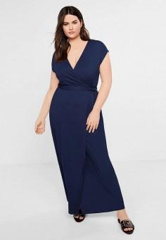 56c9ed97df42df8 Платье, Violeta by Mango, цвет: синий. Артикул: VI005EWEYTJ6. Одежда /