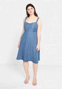 cac91b18009f75a Сарафан, Violeta by Mango, цвет: синий. Артикул: VI005EWFCNQ3. Одежда /