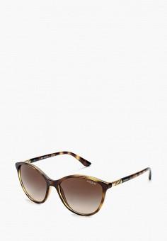Очки солнцезащитные, Vogue® Eyewear, цвет  коричневый. Артикул   VO007DWABYA8. Аксессуары 45279e4573c