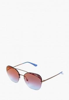 Очки солнцезащитные, Vogue® Eyewear, цвет  коричневый. Артикул   VO007DWBZPC4. Аксессуары d5b63129032