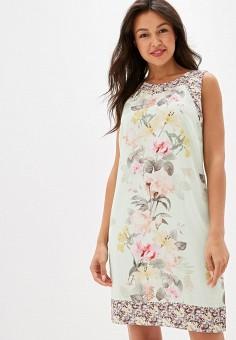 afa142081 Платье, Wallis, цвет: зеленый. Артикул: WA007EWFUPJ5. Одежда / Одежда  больших
