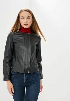 c4bd7ecbacc2 Куртка кожаная, Weekend Max Mara, цвет: черный. Артикул: WE017EWDQMQ3.  Одежда