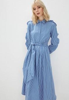 ef77714dd0c561b Платье, Weekend Max Mara, цвет: голубой. Артикул: WE017EWDQMQ9. Одежда /