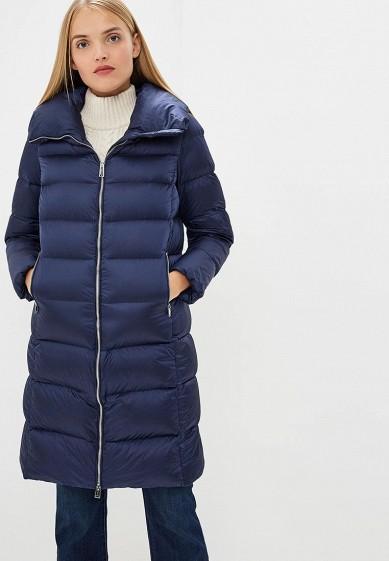 Пуховик, Add, цвет: синий. Артикул: AD504EWCGOK0. Premium / Одежда / Верхняя одежда