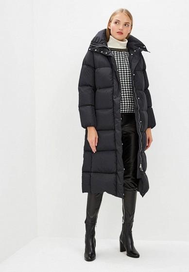 Пуховик, Add, цвет: черный. Артикул: AD504EWCGOL3. Premium / Одежда / Верхняя одежда