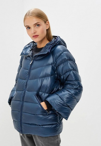 Пуховик, Add, цвет: синий. Артикул: AD504EWCGOL9. Premium / Одежда / Верхняя одежда
