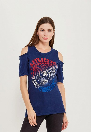 Футболка Affliction BORN TO ROCK COLD SHOULDER TOP