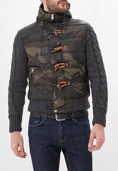 Куртка утепленная, Alcott, цвет: хаки. Артикул: AL006EMDJYC2. Одежда / Верхняя одежда