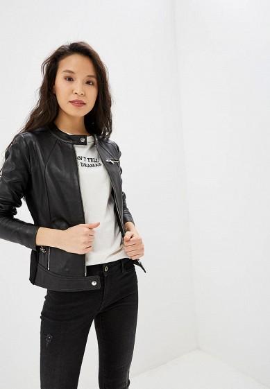 Куртка кожаная, Arma, цвет: черный. Артикул: AR020EWEAAG6. Одежда / Верхняя одежда / Кожаные куртки