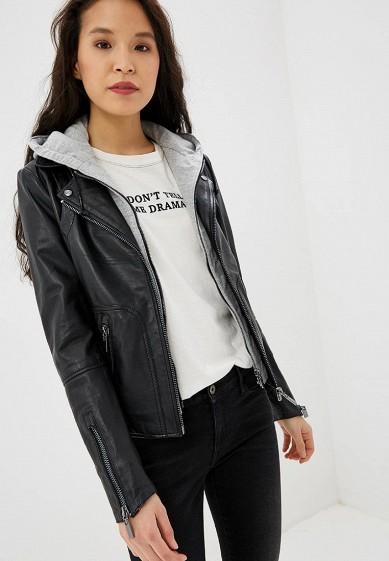 Куртка кожаная, Arma, цвет: черный. Артикул: AR020EWEAAG9. Одежда / Верхняя одежда / Кожаные куртки