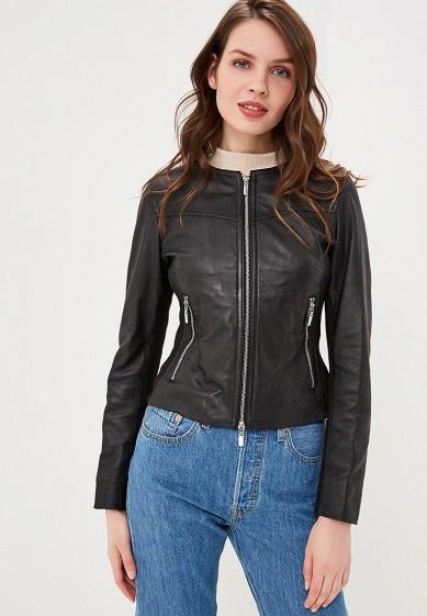 Куртка кожаная, Arma, цвет: черный. Артикул: AR020EWEAAH1. Одежда / Верхняя одежда / Кожаные куртки
