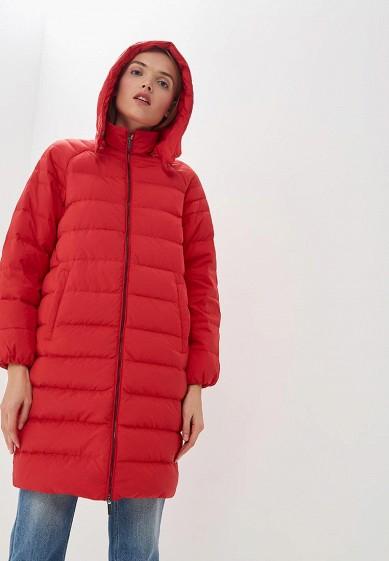Пуховик, Armani Exchange, цвет: красный. Артикул: AR037EWBLEY3. Premium / Одежда / Верхняя одежда