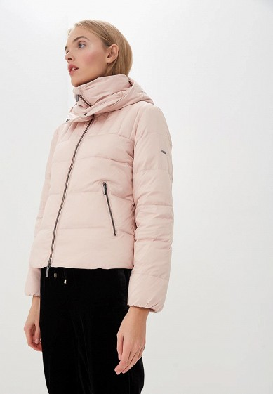 Пуховик, Armani Exchange, цвет: розовый. Артикул: AR037EWBLEY5. Premium / Одежда / Верхняя одежда