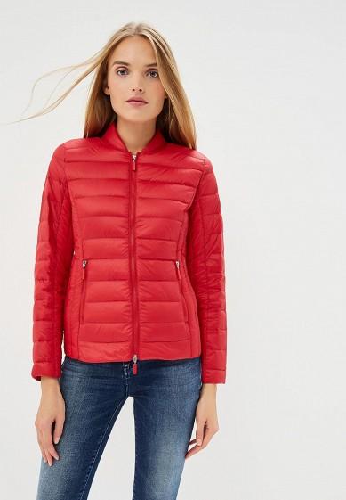 Пуховик, Armani Exchange, цвет: красный. Артикул: AR037EWBLEZ9. Premium / Одежда / Верхняя одежда