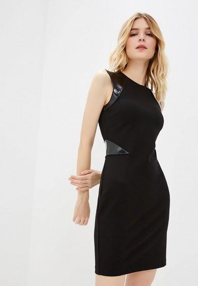 Платье, Armani Exchange, цвет: черный. Артикул: AR037EWBLFC2. Одежда / Платья и сарафаны
