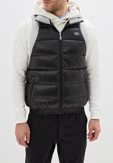 Жилет утепленный, ASICS, цвет: черный. Артикул: AS009EMFPMV1. Одежда / Верхняя одежда
