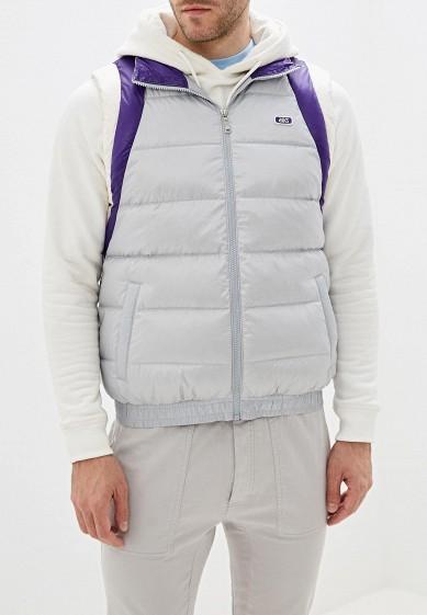 Жилет утепленный, ASICS, цвет: серый. Артикул: AS009EMFPMV2. Одежда / Верхняя одежда