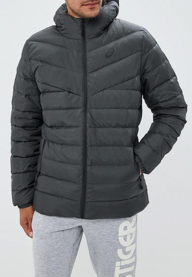 Пуховик, ASICS, цвет: серый. Артикул: AS455EMCHED6. Одежда / Верхняя одежда