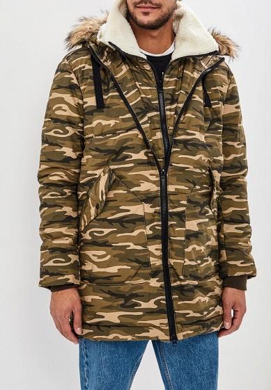 Куртка утепленная, Befree, цвет: хаки. Артикул: BE031EMCYIR0. Одежда / Верхняя одежда / Пуховики и зимние куртки