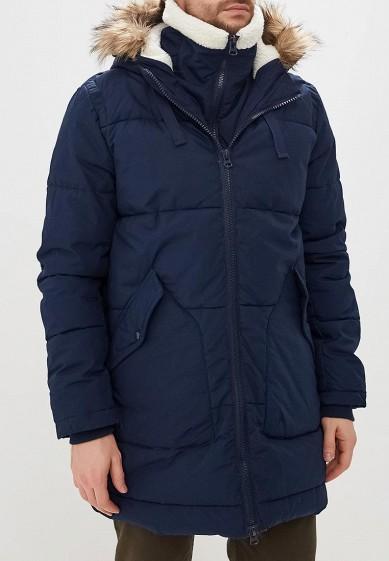 Куртка утепленная, Befree, цвет: синий. Артикул: BE031EMCYIR1. Одежда / Верхняя одежда / Пуховики и зимние куртки