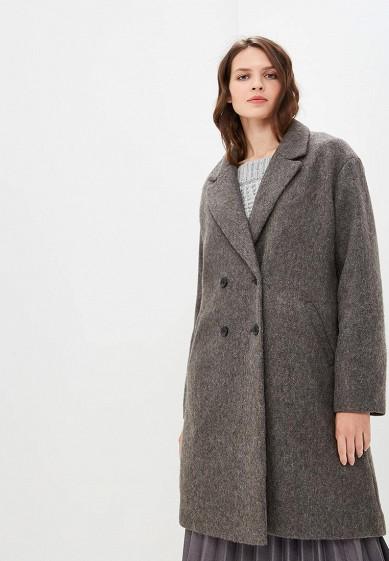 Пальто, Befree, цвет: серый. Артикул: BE031EWBXHP1. Одежда / Верхняя одежда