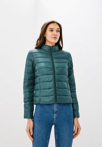Куртка утепленная, Befree, цвет: зеленый. Артикул: BE031EWBXIN9. Одежда / Верхняя одежда