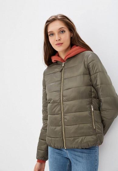 Куртка утепленная, Befree, цвет: хаки. Артикул: BE031EWBXIO4. Одежда / Верхняя одежда