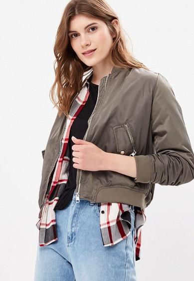 Куртка утепленная, Befree, цвет: хаки. Артикул: BE031EWBXIP4. Одежда / Верхняя одежда