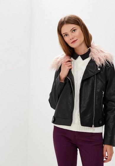 Куртка кожаная, Befree, цвет: черный. Артикул: BE031EWBXIQ2. Одежда / Верхняя одежда