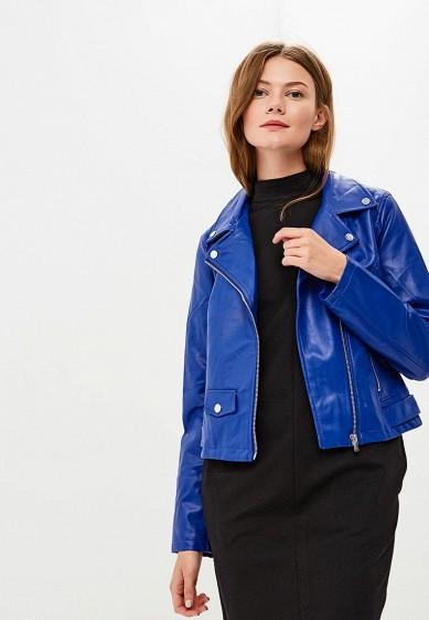 Куртка кожаная, Befree, цвет: синий. Артикул: BE031EWBXIQ3. Одежда / Верхняя одежда