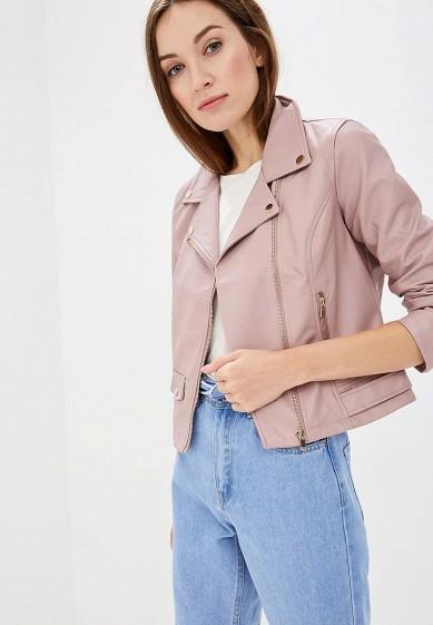 Куртка кожаная, Befree, цвет: розовый. Артикул: BE031EWBXIQ5. Одежда / Верхняя одежда