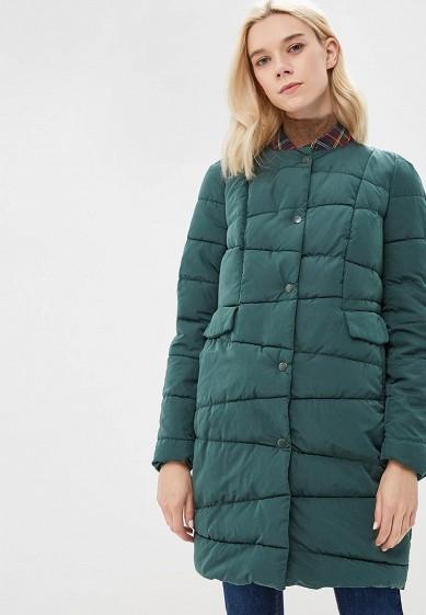 Куртка утепленная, Befree, цвет: зеленый. Артикул: BE031EWBXIR2. Одежда / Верхняя одежда