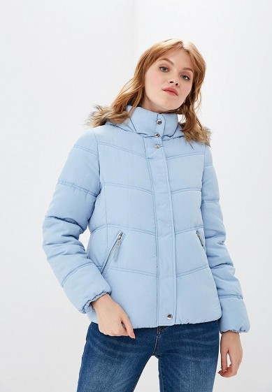 Куртка утепленная, Befree, цвет: голубой. Артикул: BE031EWBXJP8. Одежда / Верхняя одежда