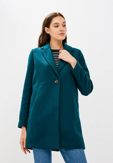 Пальто, Befree, цвет: зеленый. Артикул: BE031EWBXKS9. Одежда / Верхняя одежда