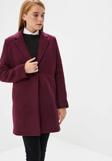Пальто, Befree, цвет: фиолетовый. Артикул: BE031EWBXKT1. Одежда / Верхняя одежда