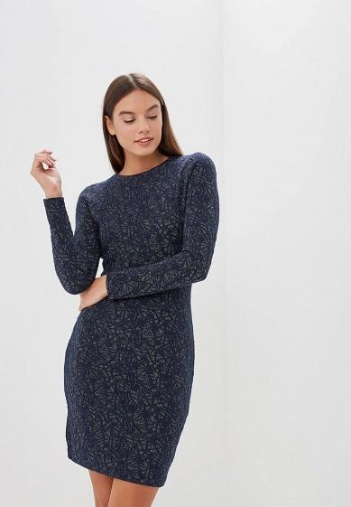 Платье, Befree, цвет: синий. Артикул: BE031EWBXLJ9. Одежда / Платья и сарафаны