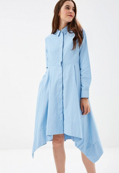 Платье, Befree, цвет: голубой. Артикул: BE031EWBXMB3. Одежда / Платья и сарафаны