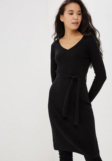 Платье, Befree, цвет: черный. Артикул: BE031EWCUAD7. Одежда / Платья и сарафаны